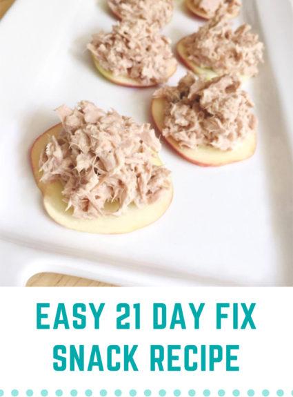 21 Day Fix:  Protein & Apple Bites
